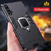 Super Strong Magnetic Car Ring Phone case for Huawei Honor 20 Honor 10i 10 Lite Armor Cases for 8X 9X 20 Pro 7A 7C P Smart Cases