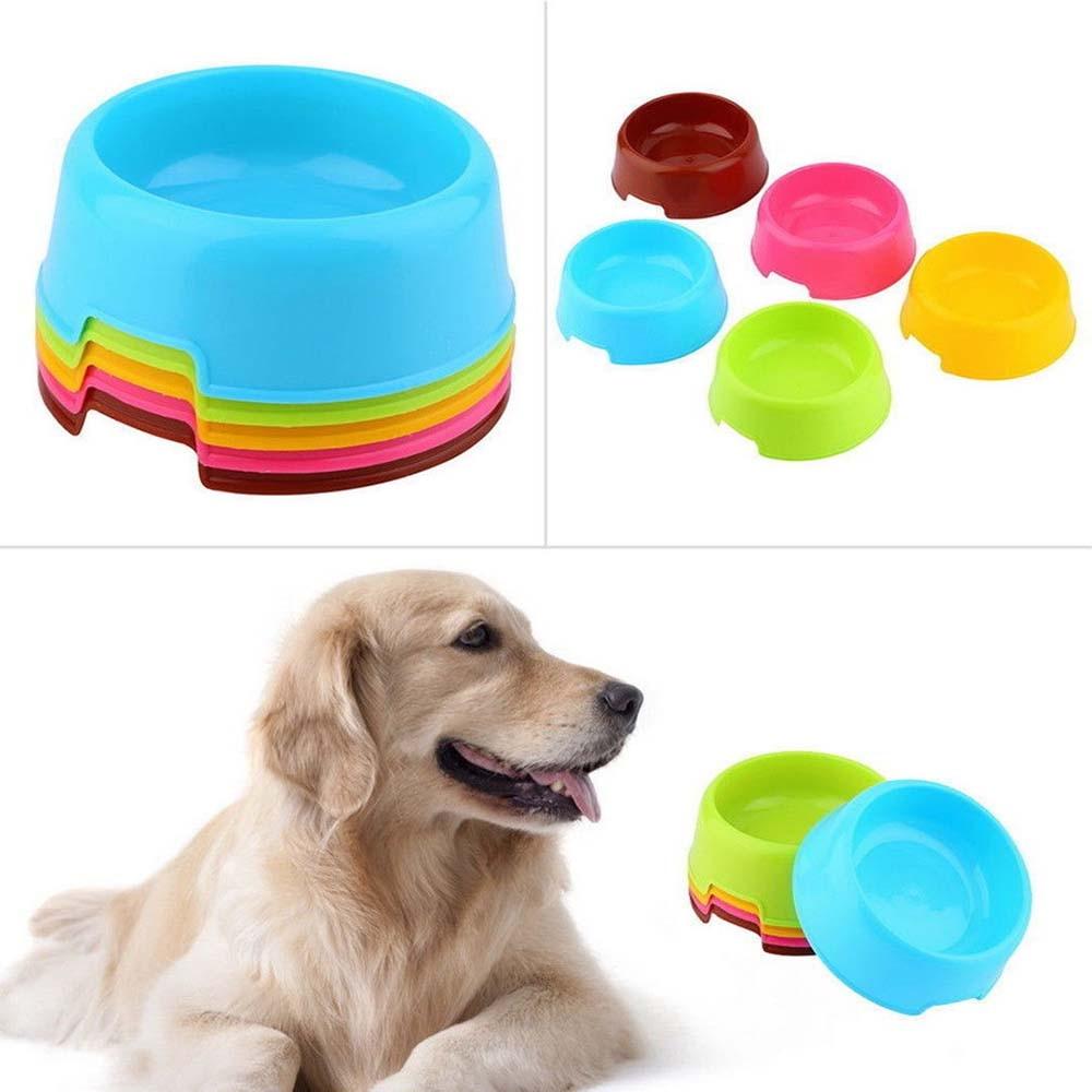 Multi-Purpose Candy Color Plastic Dog Bowls Feeding Puppy Dog Feeder Bowl Cat Dog Bowls Pet Feeding Supplies