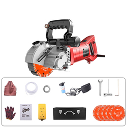 Professional Hydropower Installation Electric Wall Chaser Concrete Wall Slotting Grooving Machine Brick Wall Slot Cutter 220V