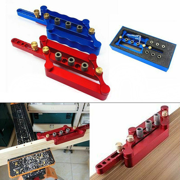 Self Centering Vertical Punch Locator Kit Positioning Fixture 6/8/10MM Drilling Woodworking QJS Shop