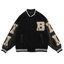 Streetwear Bomber veste hommes femmes 2020SS Hip Hop fourrure os Patchwork couleur bloc vestes hommes Harajuku Baseball manteaux