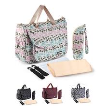 цена на Maternity Diaper Bag Fashion Bags For Mom Colorful-plaid Large-capacity Waterproof Handbag Travel Strollers Bag