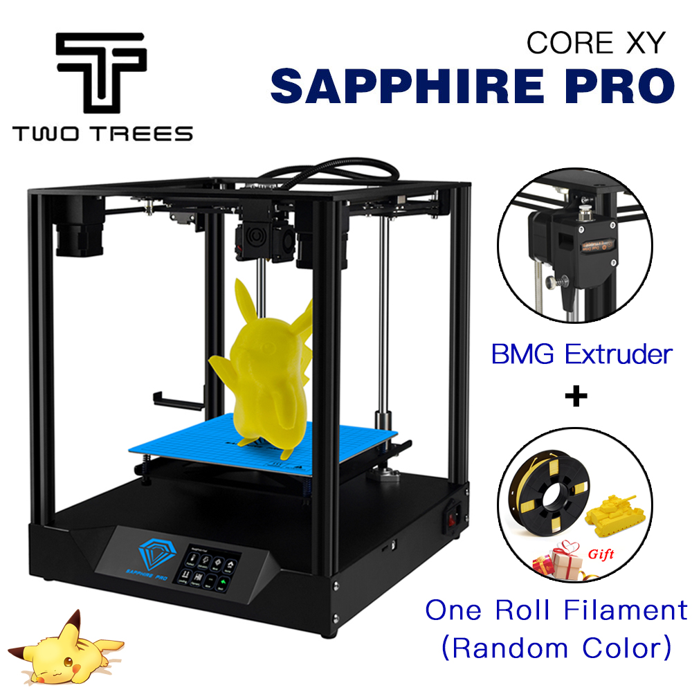 TWO TREES 3D Printer Sapphire pro printer diy CoreXY BMG Extruder Core xy 235x235m Sapphire S Pro DIY Kits 3.5 inch touch screen plancha termica para gorras