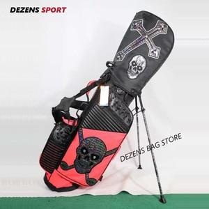 DEZENS Новая модная сумка для гольфа с принтом черепа водонепроницаемая сумка для гольфа с подставкой