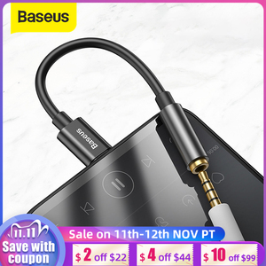 Baseus L54 Type c to 3.5mm AUX earphone headphone adapter usb c to 3.5 jack audio Earphone Cable Adapter for Xiaomi mi 9 8