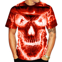 2021 new spaceship 3D printing T-shirt male and female T-shirt punk style upper tee skull t-shirt Gothic T-shirt