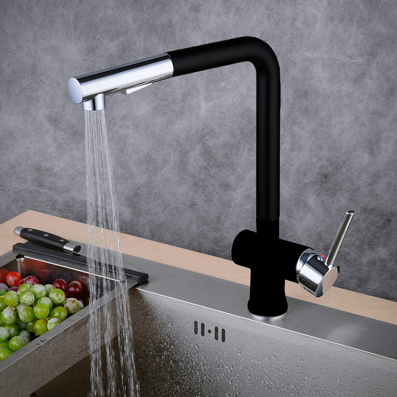 Stainless Steel Kitchen Faucet Single Handle Single Hole Mixers Sink Tap Kitchen Faucet Modern Hot And Cold Water Taps
