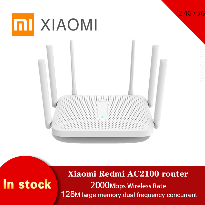 Xiaomi Redmi AC2100 Router 2.4G / 5G Dual Frequency Wifi Repeater 128M RAM Game Accelerator Coverage  External Signal Amplifier