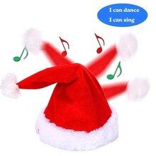 Креативная Музыкальная Рождественская шляпа плюшевая домашняя декорация пение и танцы забавная плюшевая игрушка в шапке Милая Музыкальная Рождественская шляпа для вечерние ST