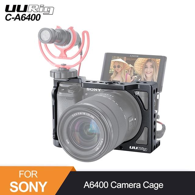 UURig C A6400 Caméra En Métal Cage Plate Forme pour Sony Alpha A6400 Poignée Caméra Accessoires pour Appareil Photo REFLEX NUMÉRIQUE