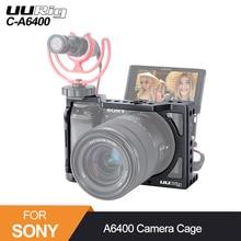 Uurig C A6400 Metalen Camera Cage Rig Voor Sony Alpha A6400 Hand Grip Camera Rig Dslr Camera Accessoires