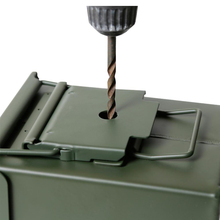 Lock-Box Case Gun Ammo Can Ammunition Pistol Steel-Gun Army Military 50 Cal 40mm Bullet-Valuables-Storage