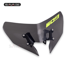 Windshield Pare-brise For YAMAHA MT 09 MT09 MT-09 FZ09 FZ-09 2017-2019 Motorcycle Accessories Windscreens Wind Deflectors Logo