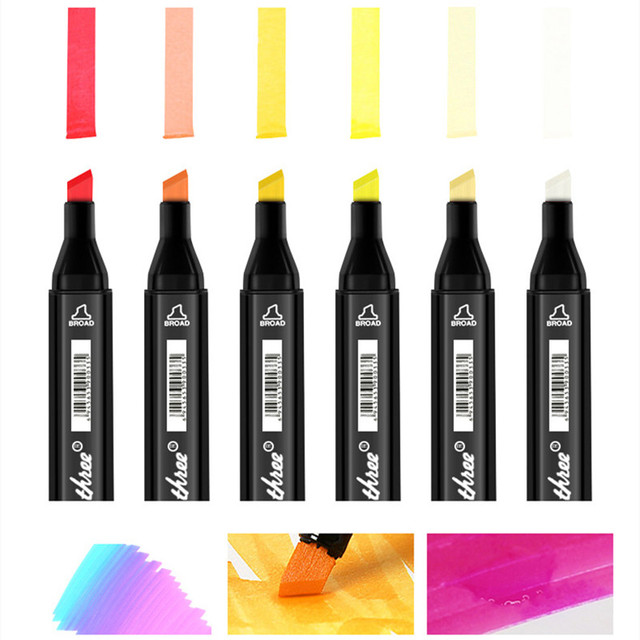 TouchThree Art Markers Set 30/40/60/80/168 Colors Drawing Markers Pen Alcohol Based Felt-Tip Oily Twin Brush Pen Art Supplies 4