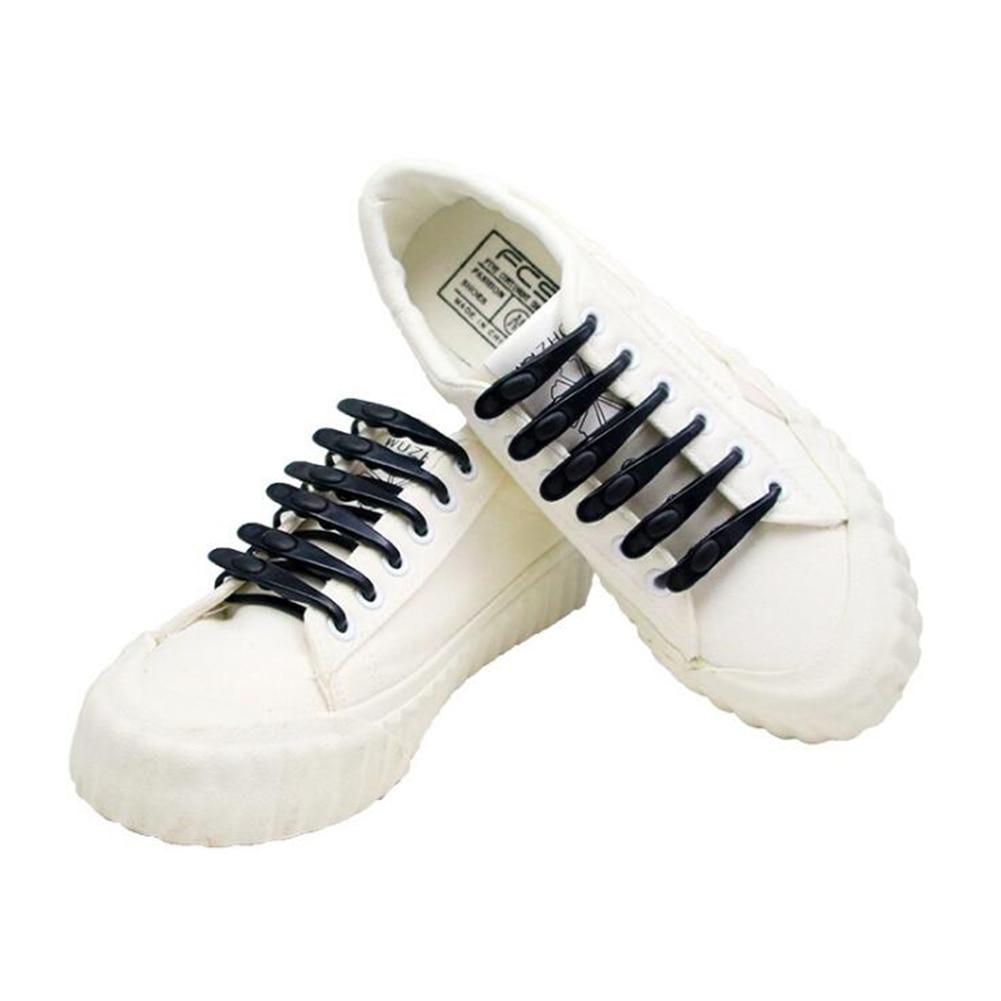 1PCS Silicone Shoelaces Elastic Shoe Laces Special No Tie Shoelace For Men Women Lacing Shoe Strings