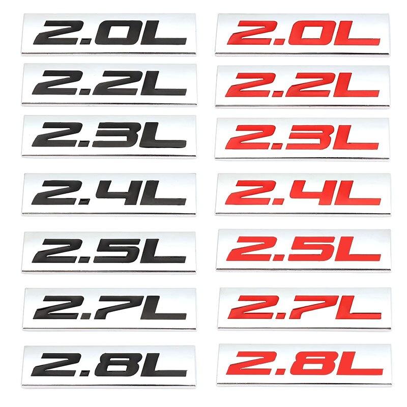 2.0L 2.3L 2.4L 2.5L 2.8L эмблема-наклейка на автомобиль значок наклейка для Toyota Mercedes Mazda Nissan BMW Audi Honda Hyundai Ford KIA VW SUV