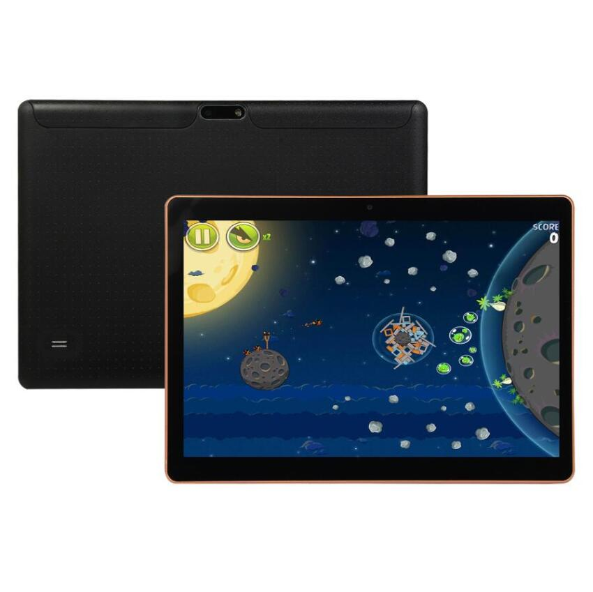 Black Android 8.0 10 Inch Tablet Pc  Google Play 10 Core 6G+128GB 4G Phone Call Dual SIM Dual Camera  Wifi GPS Bluetooth Tablet