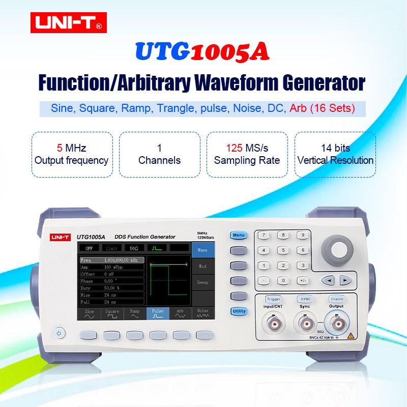 UNI-T UTG1005A générateurs de Signal fonction générateur de forme d'onde arbitraire canal unique 5MHz bande passante/125 MS/s avec USB