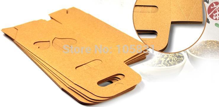 50X boîte de papier kraft écologique 10*15.5cm + 6cm avec fenêtre coeur tenez les faveurs de mariage de poche de nourriture peuvent personnaliser l'impression de logo - 6
