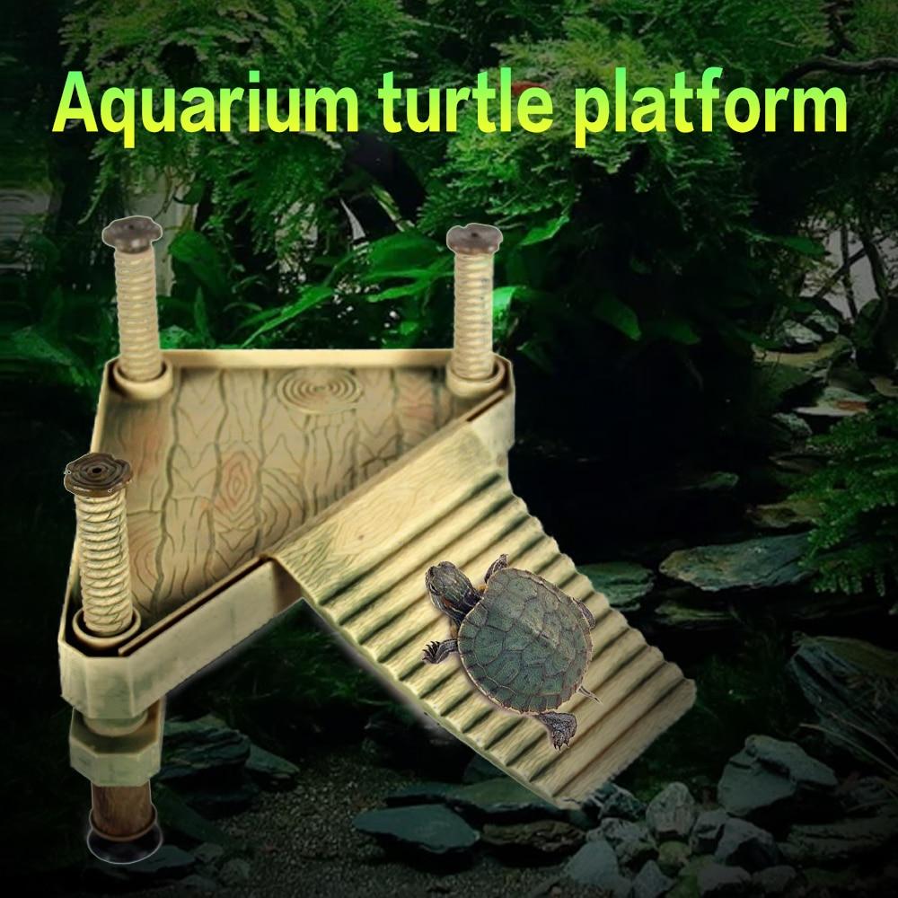 Turtle Float Bask Platform Climb Shel Aquarium Decorations Turtle Island Platform Aquarium Reptile Dock Float