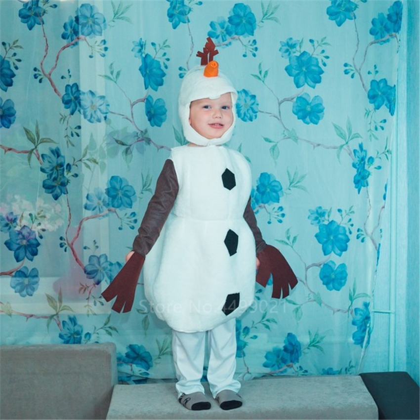 Infant Olaf Costume | Infant Kid 3PCS Santa Olaf Cosplay Costume Halloween Carnival Party Clothing Set Performance Snowman Cartoon Jumpsuit Cute Gift