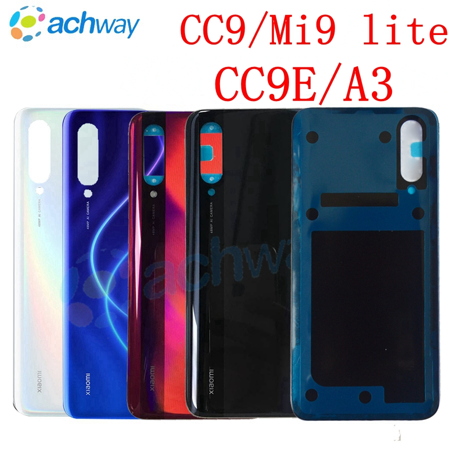 Back Cover For Xiaomi Mi CC9 Battery Cover Back Glass Panel Rear Door CC9e Housing Case Replace For Xiaomi CC9 A3 Battery Cover