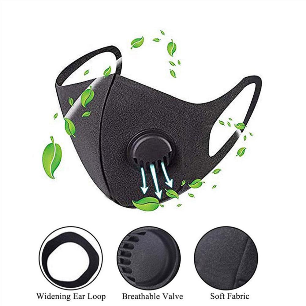 1 Piece Mask, Activated Carbon Protective Equipment, Double Breathing Valve Mask, Antibacterial Virus Mask