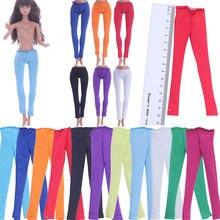 5 шт кукольной одежды для Барби штаны однотонные леггинсы универсальный