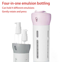 4 in 1 Portable Travel Cosmetic Bottle 4-in-1 Refillable Container Empty Containers Atomizer Perfume