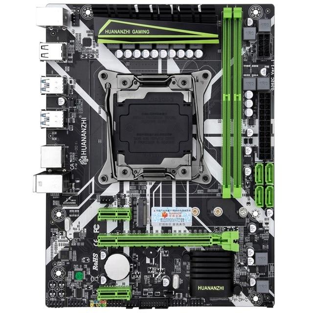 HUANANZHI X99 8M 마더 보드 슬롯 LGA2011 3 USB3.0 NVME M.2 SSD 지원 DDR4 REG ECC 메모리 및 Xeon E5 V3 V4 프로세서