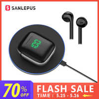 SANLEPUS Led TWS Earphones Wireless Headphones 3D Stereo HiFi Earbuds Sport Gaming Headset With Mic Support Wirless Charging