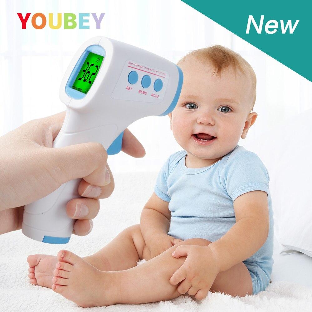 Youbey infravermelho testa bebê termômetro digital blacklight febre lcd não-contato temperatura do corpo do bebê termometro