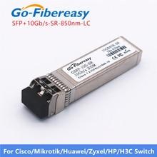 Módulo transceptor óptico SFP + 10 Gb/s SFP 10G SR módulo transmisor DDM 10GBASE SR Compatible con Cisco/Ubiquiti/Mikrotik/Zyxel
