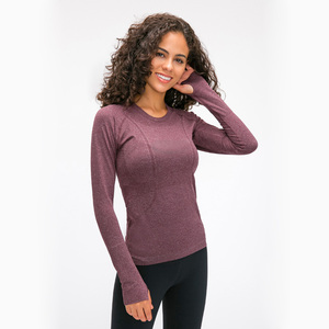 Image 5 - Nepoagym OCEAN Women Yoga Seamless Top Super Soft Long Sleeve Shirt Stretchy Workout Tops Sports Wear for Women Gym