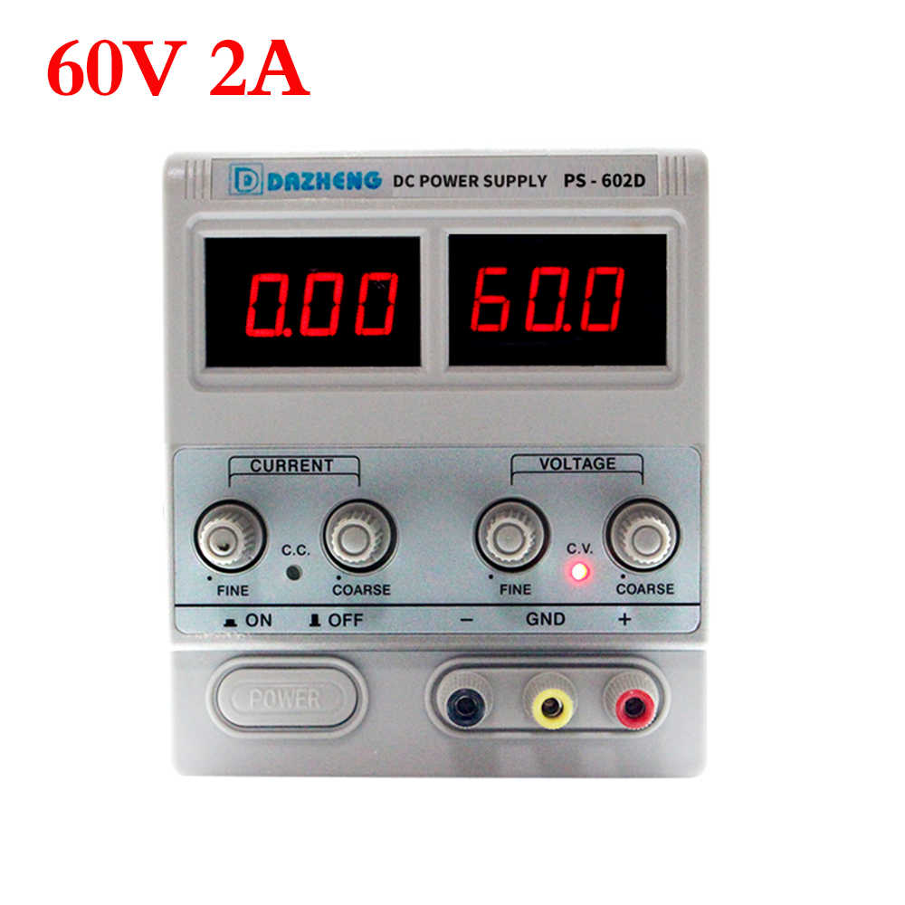 Profesjonalny Linear sieciowe do laboratoriów laboratorium 60V 2A regulowany cyfrowy regulatory napięcia do naprawy telefonu zasilacze prądu stałego
