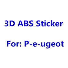 Серебристый Хром ABS 3D наклейка на кузов автомобиля Наклейка на задний бампер багажник Письмо значок эмблема этикетка наклейки для PEUGEOT аксе...