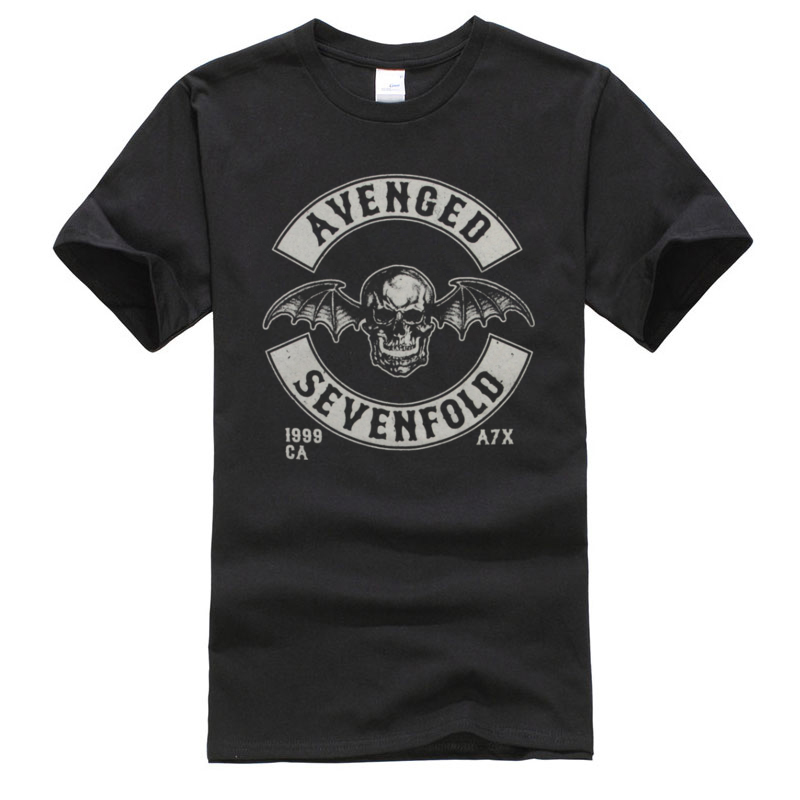 Avenged Sevenfold Hardcore Rock Classic Tshirts O Neck 3D Printed Short Sleeve 100% Cotton Fabric Man T Shirts Autumn Tops Shirt