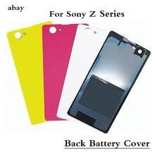 For Sony Z Series Battery Cover Back Glass Door Housing Case For Sony Z1 Z3 MINI