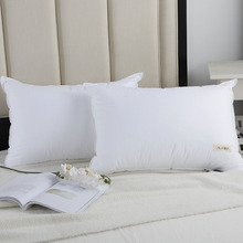 YAXINLAN Solid color Down Feather Pillow Antibacterial anti mite 50*70/70*70 Authentic Russian size Massage health Soft pillow