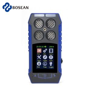 Портативный 4 в 1 детектор газа O2 EX H2S CO четыре метода сигнализации три-доказательство подключения с компьютерным магазином детектор данных