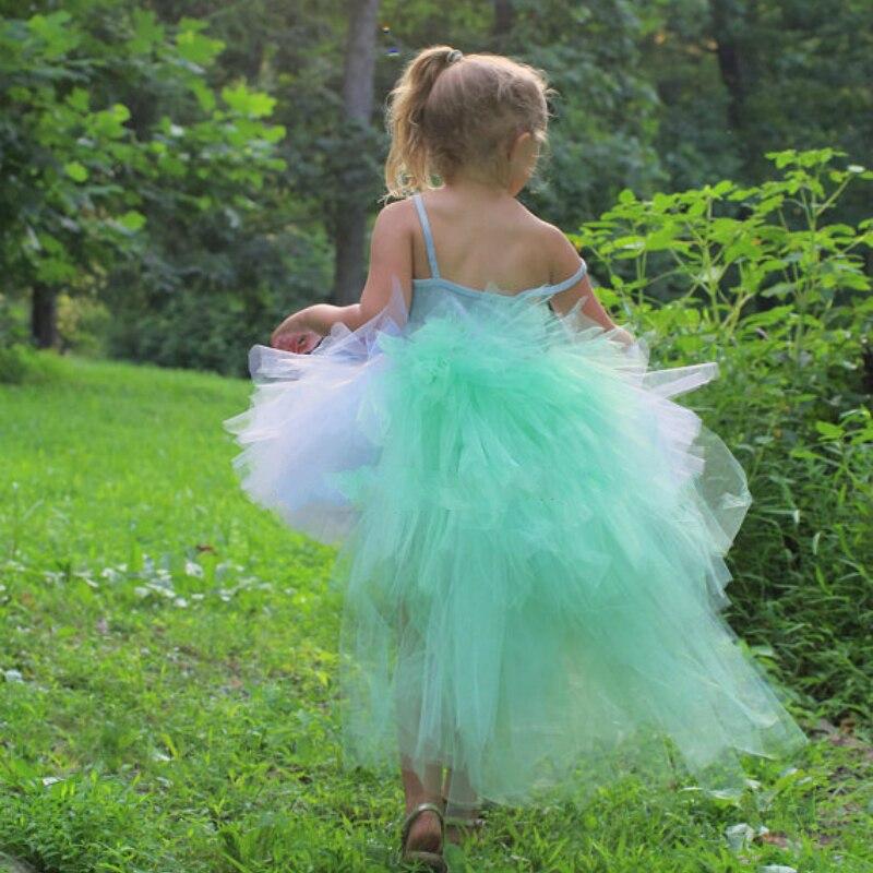meninas do aqua unicorn arrastando tutu saias criancas camadas tule pettiskirt underskirt criancas danca ballet saias