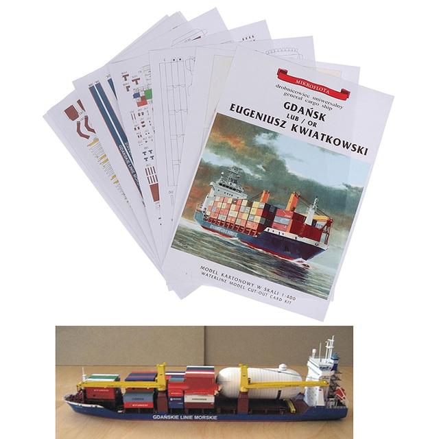 1:400 Gdansk Cargo Ship DIY Handcraft 3D Paper Card Model Sets MYPANDA 3
