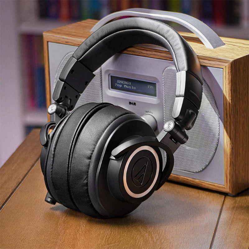 1Pair Foam Ear Pads Cushion Leather Earpad For ATH-MSR7 M50X M20 M40 M40X SX1 J6PB