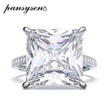 Pansysen luxo 100% 925 prata esterlina criado moissanite casamento anéis de noivado para mulheres por atacado anel de casal