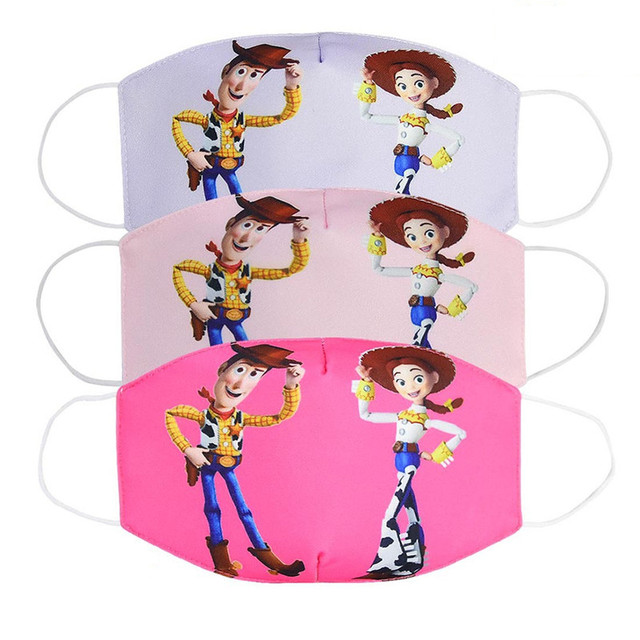 Disney Toy Story Buzz Lightyear Woody Jessie Children's Face Maks Reusable Breathable Protective Kid Cartoon Mouth Face Maks 1