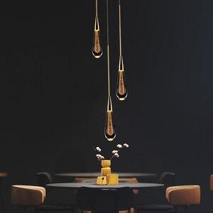 Image 2 - الشمال مصمم فاخر كريستال قلادة أضواء الحديثة قلادة led مصباح الإضاءة فندق قاعة مطعم ديكور داخلي مصباح معلق