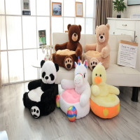 Infant Baby Chair Toddler Seat Children Seat Sofa With Filling Kids Bean Bag Comfort Plush Cartoon Bear Unicorn Panda Upscale