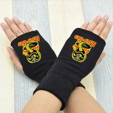 Cobra kai nunca morre metade do dedo luvas de inverno guantes luvas da motocicleta karate miúdo pulso luvas de trabalho amantes sem dedos