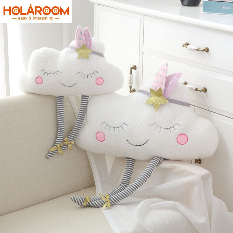 Cloud Plush Toy Decorative Pillow For Sofa Bedroom Stuffed Dolls Cushion For Kids Children Christmas Gift Bolster Home Decor