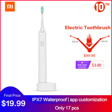 شاومي فرشاة أسنان كهربائية بالموجات الصوتية قابلة للشحن Mijia APP التحكم الترا سونيك فرشاة أسنان IPX7 مقاوم للماء USB شحن لاسلكي